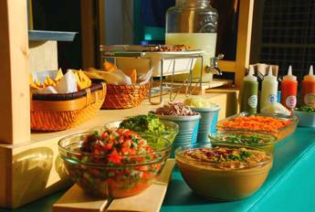 Festive Taco Table for 10 Persons